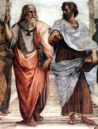 プラトンとアリストテレスの論争(ラファエロのアテネの学堂)