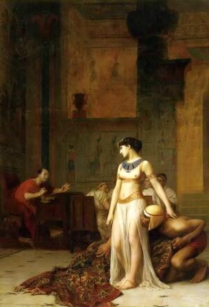 ジャン=レオン・ジェローム 絨毯の中からカエサルの前へ現れるクレオパトラ