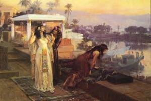 ブリッジマン作『フィラエ神殿の露段に立つクレオパトラ』