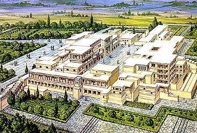 クノッソス宮殿想像図