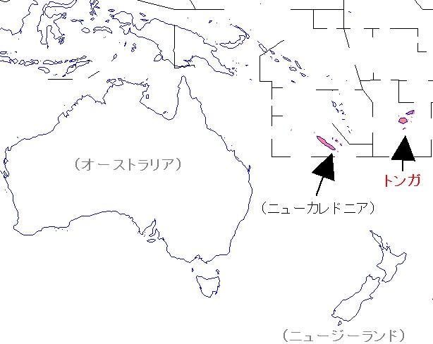 トンガ地図